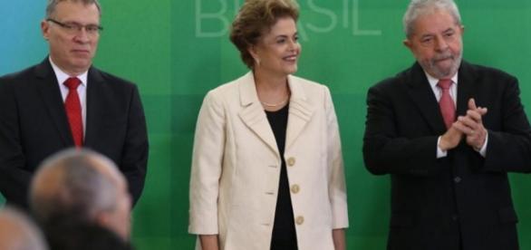Dilma, Eugênio Aragão e Lula - Imagem/Google
