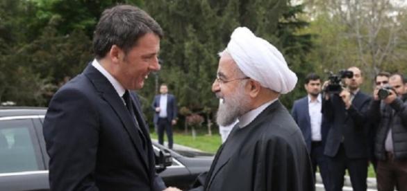 L'incontro tra Renzi ed il presidente iraniano Rouhani