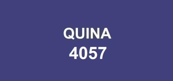 Sorteio da Quina 4057, dia 12.