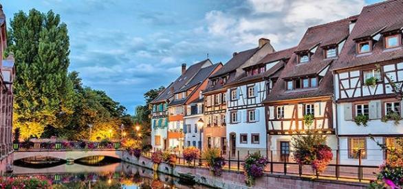 Zona residencial de Ginebra (Suiza)