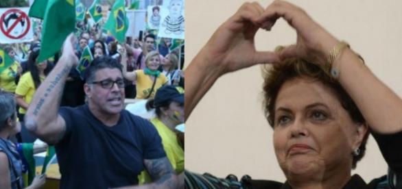 Alexandre Frota e Dilma - Imagem/Reprodução