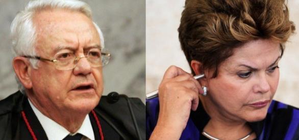 Dilma na mira de ex-presidente do STF - Foto/Montagem