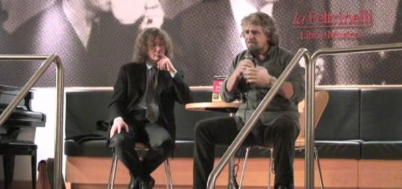 I fondatori del M5S, Casaleggio e Grillo