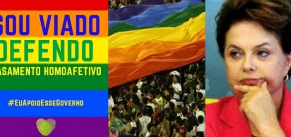 Polêmica envolve Dilma e os homossexuais