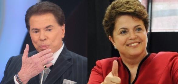 Silvio Santos e Dilma Rousseff