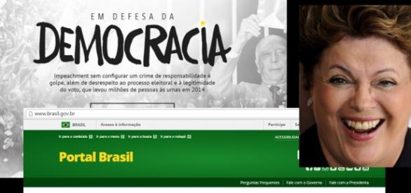 Portal do governo é usado para defender Dilma