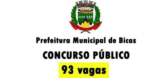 Prefeitura de Bicas oferece 93 vagas