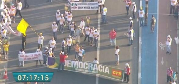 Protesto a favor de Dilma - Foto/Reprodução