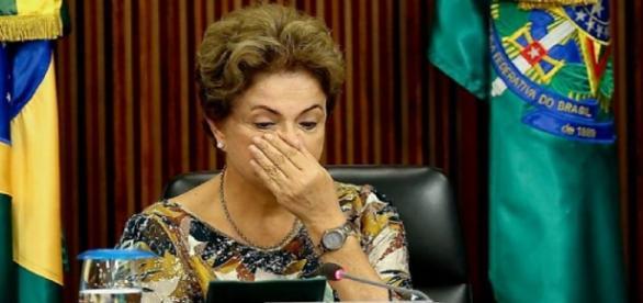 Dilma Rousseff em seu gabinete pessial