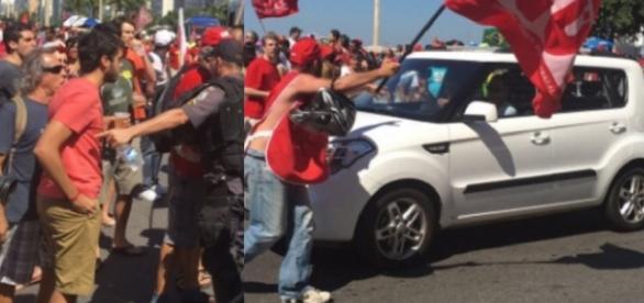 Confusão em manifestação realizada no Rio