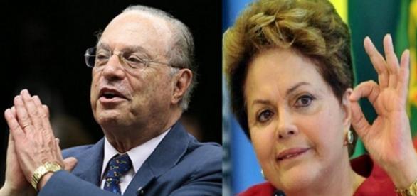 Maluf e Dilma Rousseff - Foto/Montagem