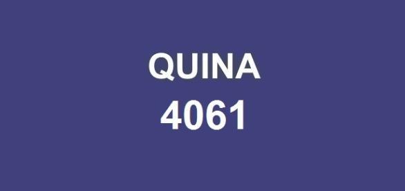 Quina 4061; Sorteio do prêmio de R$ 3,3 milhões.