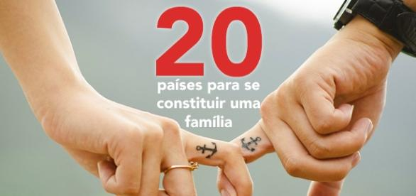 Confira a lista dos 20 países para constituir família.