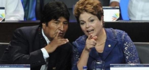 Evo Morales e Dilma - Imagem - Google