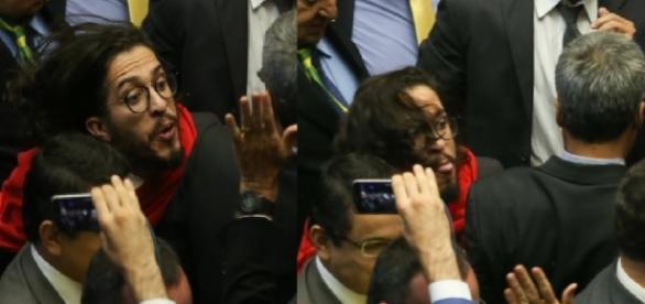 Jean cospe em Bolsonaro - Imagem/UOL