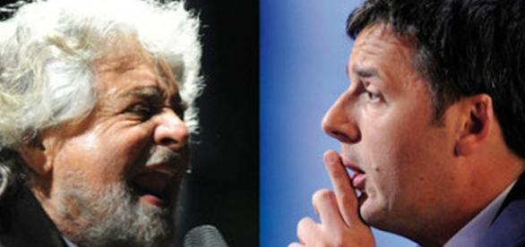 Le dichiarazioni di Matteo Renzi e Beppe Grillo sui risultati del referendum