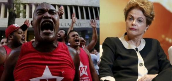 Manifestante petista e Dilma Rousseff - Foto/Montagem: Google