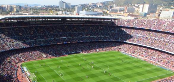 Partido de la Liga BBVA en el Camp Nou