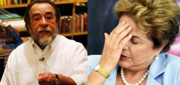 Fernando Morais e Dilma Rousseff - Foto/Montagem