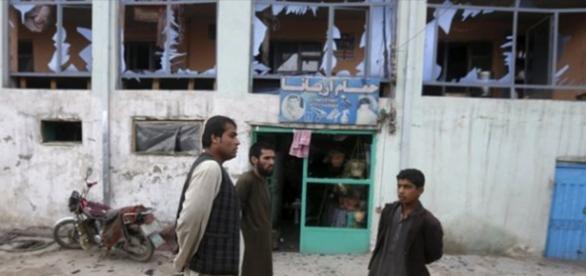Foto del desastre causado pro la explosión