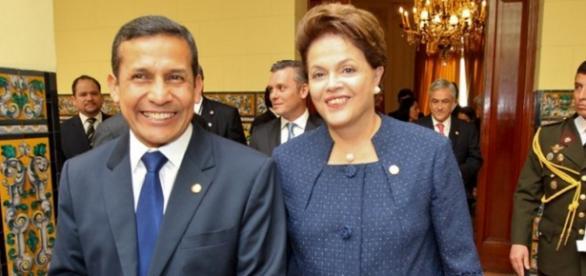 Presidente peruano e presidente Dilma