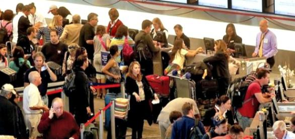 Airpprt TSA security checks are increasingly crowded.