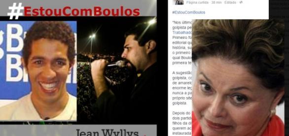 Jean diz que está com Boulos - Foto/Montagem