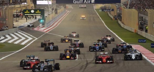 Salida en el GP de Bahréin en 2015