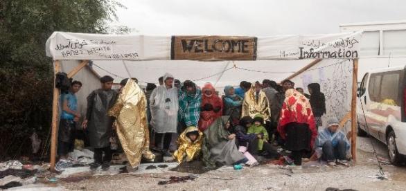 Campamento de refugiados. Médicos Sin Fronteras