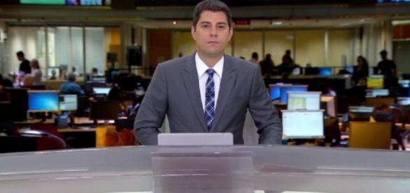 Evaristo Costa no 'Jornal Hoje' - Foto/Reprodução