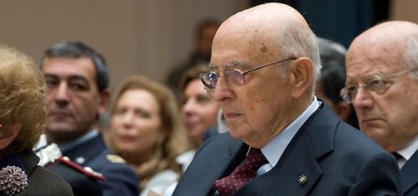 Il presidente emerito della Repubblica, Napolitano