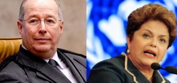 Ministro do STF e Dilma - Foto/Montagem