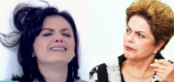 Monica Iozzi e Dilma - Foto/Montagem