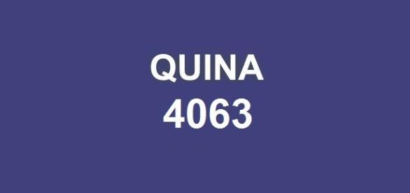 Sorteio Quina 4063; Prêmio de R$ 5 milhões.
