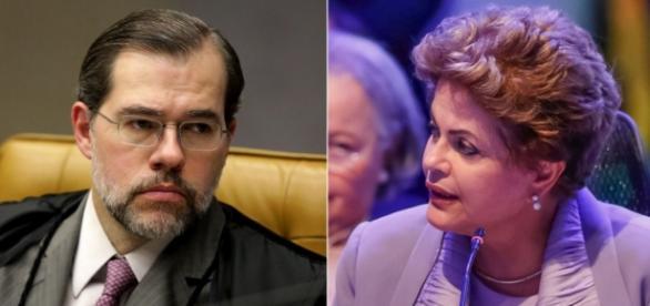 Dias Toffolli e Dilma Rousseff - Foto/Montagem
