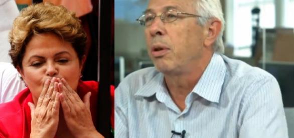 Dilma e representante da CUT - Foto/Montagem