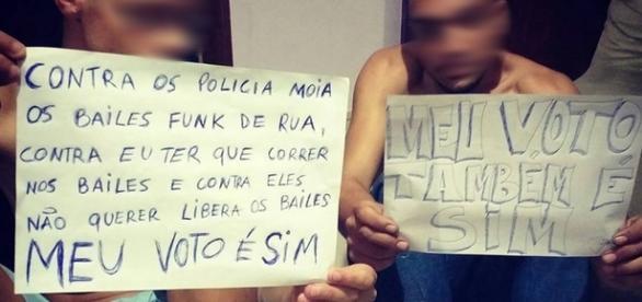 Jovens defendem os bailes funk (Foto: Reprodução/Facebook)