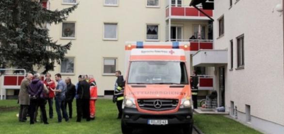 las 2 mujeres fueron trasladadas en ambulancias diferentes.Una de ellas fue esta