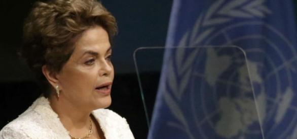 Dilma discursando na Assembleia da ONU