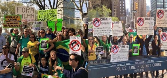 Movimento contra Dilma em Nova York