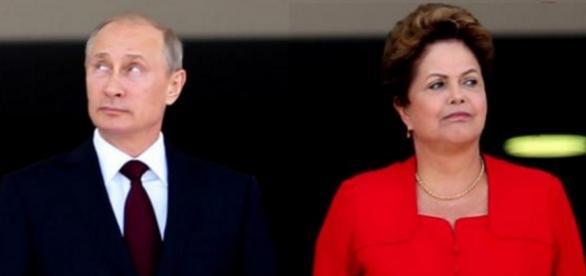 Vladmir Putin e Dilma Rousseff - Imagem/Google