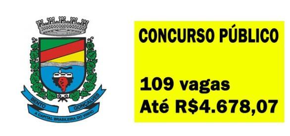 Concurso para Bento Gonçalves está aberto