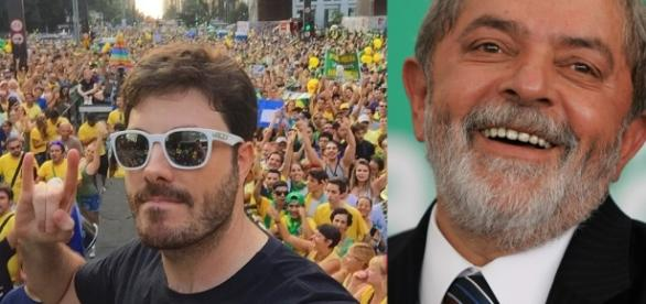 Danilo Gentili faz piada com briga política - Foto/Montagem