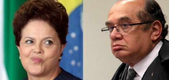 Dilma Rousseff e Gilmar Mendes - Foto/Montagem