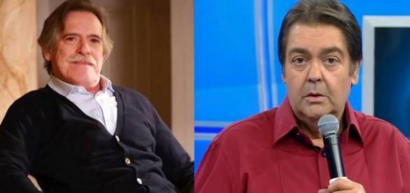 José de Abreu e Fausto Silva - Foto/Montagem: Reprodução TV Globo