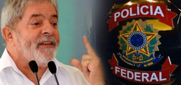 Lula se complica mais com a polícia federal - foto/montagem