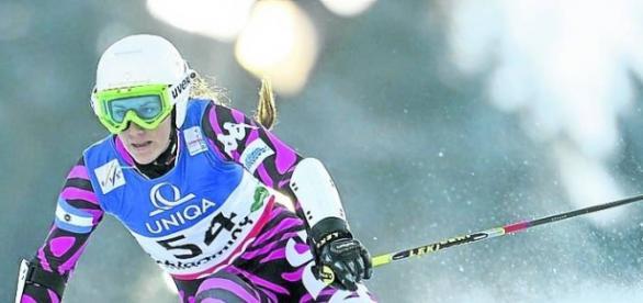 Macarena Simari Birkner, representante en Esqui Alpino