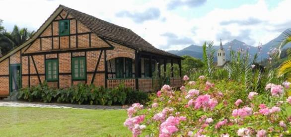 A cidadezinha de Pomerode em Santa Catarina