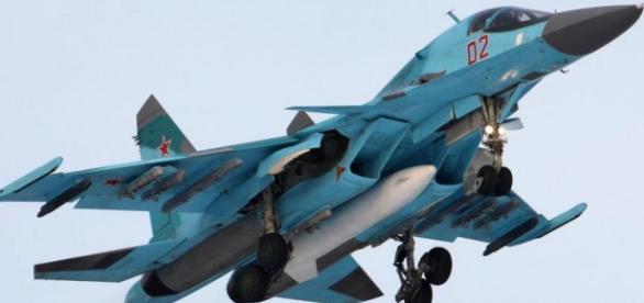 Avion ruso volando sobre E.E.U.U.
