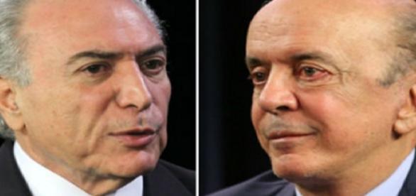 Michel Temer e José Serra - Foto/Montagem: Google
